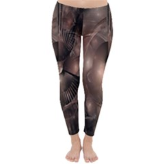 A Fractal Image In Shades Of Brown Classic Winter Leggings