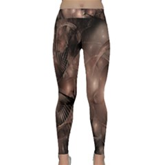 A Fractal Image In Shades Of Brown Classic Yoga Leggings