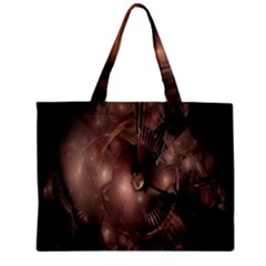 A Fractal Image In Shades Of Brown Zipper Mini Tote Bag