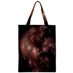 A Fractal Image In Shades Of Brown Zipper Classic Tote Bag