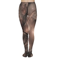A Fractal Image In Shades Of Brown Women s Tights