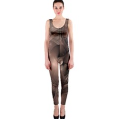 A Fractal Image In Shades Of Brown OnePiece Catsuit