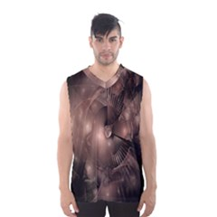 A Fractal Image In Shades Of Brown Men s Basketball Tank Top