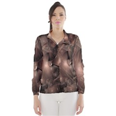 A Fractal Image In Shades Of Brown Wind Breaker (Women)