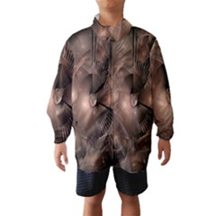 A Fractal Image In Shades Of Brown Wind Breaker (Kids)