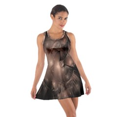 A Fractal Image In Shades Of Brown Cotton Racerback Dress