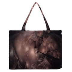 A Fractal Image In Shades Of Brown Medium Zipper Tote Bag