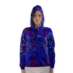 Stylish Twirl Hooded Wind Breaker (women)