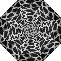 Black And White Giraffe Skin Pattern Straight Umbrellas