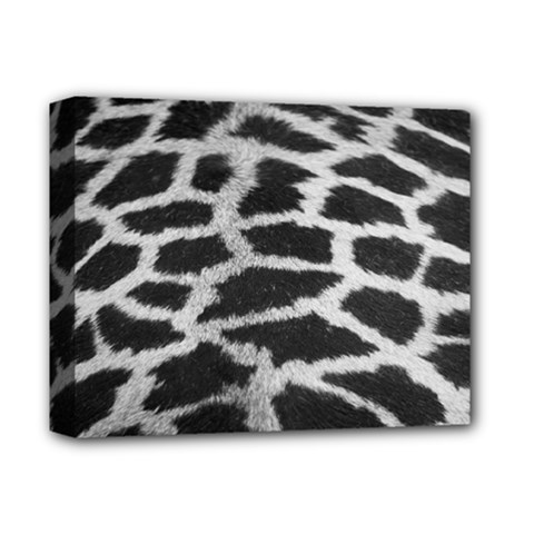 Black And White Giraffe Skin Pattern Deluxe Canvas 14  x 11