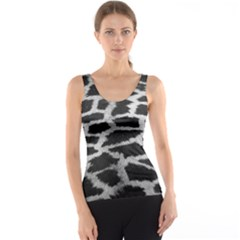 Black And White Giraffe Skin Pattern Tank Top
