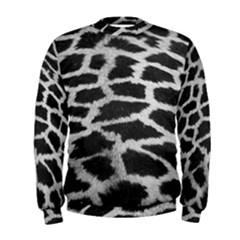 Black And White Giraffe Skin Pattern Men s Sweatshirt