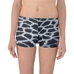 Black And White Giraffe Skin Pattern Reversible Bikini Bottoms