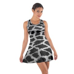 Black And White Giraffe Skin Pattern Cotton Racerback Dress