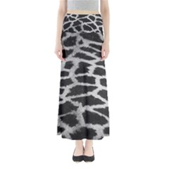 Black And White Giraffe Skin Pattern Maxi Skirts