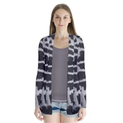 Black And White Giraffe Skin Pattern Cardigans