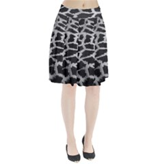 Black And White Giraffe Skin Pattern Pleated Skirt