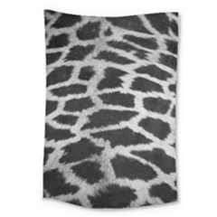 Black And White Giraffe Skin Pattern Large Tapestry