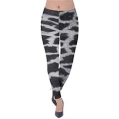 Black And White Giraffe Skin Pattern Velvet Leggings