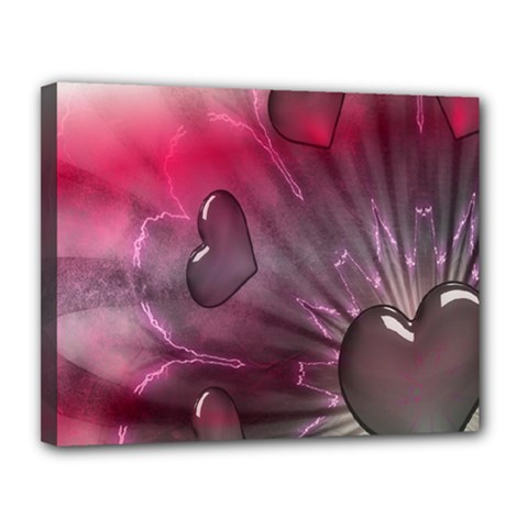 Love Hearth Background Wallpaper Canvas 14  x 11
