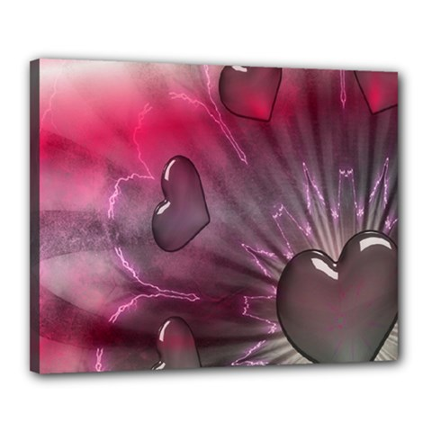 Love Hearth Background Wallpaper Canvas 20  x 16
