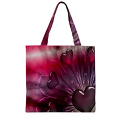 Love Hearth Background Wallpaper Zipper Grocery Tote Bag