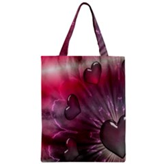 Love Hearth Background Wallpaper Zipper Classic Tote Bag