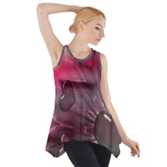 Love Hearth Background Wallpaper Side Drop Tank Tunic