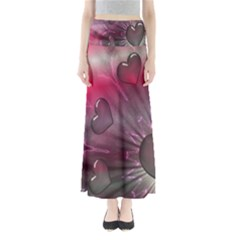 Love Hearth Background Wallpaper Maxi Skirts