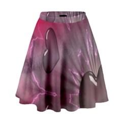 Love Hearth Background Wallpaper High Waist Skirt