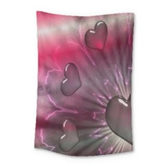 Love Hearth Background Wallpaper Small Tapestry