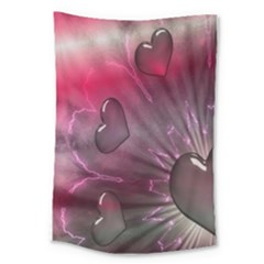 Love Hearth Background Wallpaper Large Tapestry