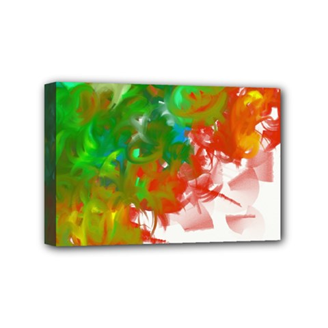 Digitally Painted Messy Paint Background Textur Mini Canvas 6  X 4