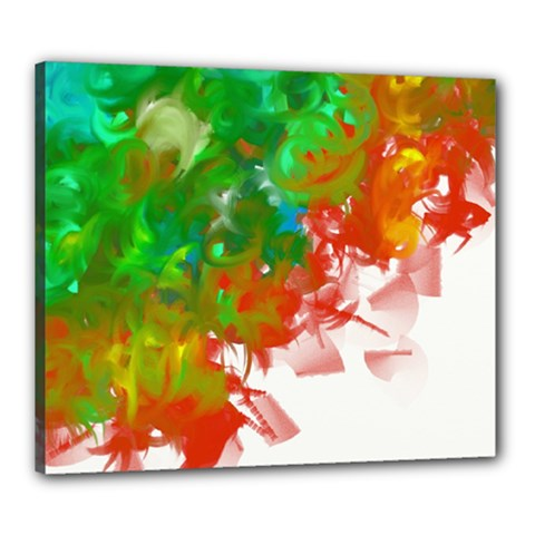 Digitally Painted Messy Paint Background Textur Canvas 24  X 20