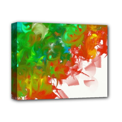 Digitally Painted Messy Paint Background Textur Deluxe Canvas 14  x 11