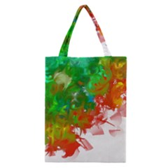 Digitally Painted Messy Paint Background Textur Classic Tote Bag