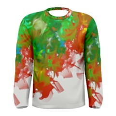 Digitally Painted Messy Paint Background Textur Men s Long Sleeve Tee