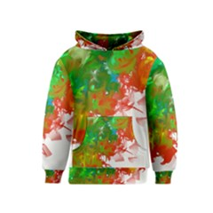 Digitally Painted Messy Paint Background Textur Kids  Pullover Hoodie