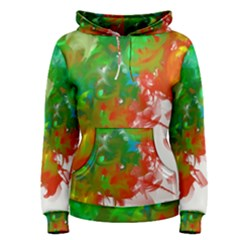 Digitally Painted Messy Paint Background Textur Women s Pullover Hoodie