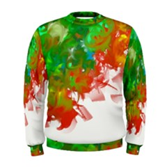 Digitally Painted Messy Paint Background Textur Men s Sweatshirt