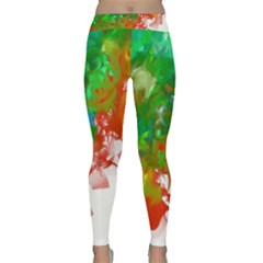 Digitally Painted Messy Paint Background Textur Classic Yoga Leggings