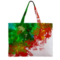 Digitally Painted Messy Paint Background Textur Zipper Mini Tote Bag