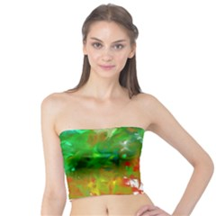 Digitally Painted Messy Paint Background Textur Tube Top