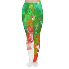 Digitally Painted Messy Paint Background Textur Women s Tights