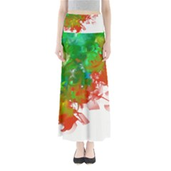 Digitally Painted Messy Paint Background Textur Maxi Skirts