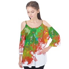 Digitally Painted Messy Paint Background Textur Flutter Tees