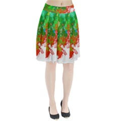Digitally Painted Messy Paint Background Textur Pleated Skirt