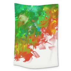 Digitally Painted Messy Paint Background Textur Large Tapestry