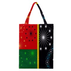 Snowflake Background Digitally Created Pattern Classic Tote Bag