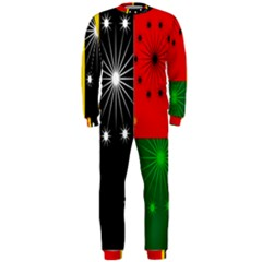 Snowflake Background Digitally Created Pattern OnePiece Jumpsuit (Men)